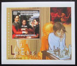 Poštovní známka Guinea 2010 Dìti a šachy DELUXE neperf. Mi# 7461 B Block
