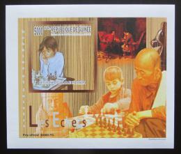 Poštovní známka Guinea 2010 Dìti a šachy DELUXE neperf. Mi# 7462 B Block
