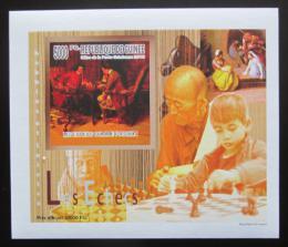 Poštovní známka Guinea 2010 Dìti a šachy DELUXE neperf. Mi# 7463 B Block