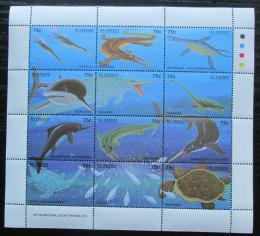 Poštovní známky Svatý Vincenc 1994 Dinosauøi Mi# 2721-32 Kat 11€
