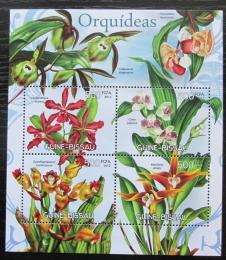 Poštovní známky Guinea-Bissau 2012 Orchideje Mi# 6052-55 Kat 8€