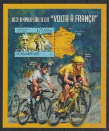 Poštovní známka Mosambik 2013 Tour de France, cyklistika Mi# Block 740 Kat 10€