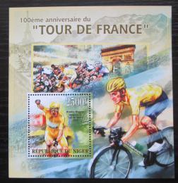 Poštovní známka Niger 2013 Tour de France, cyklistika Mi# Block 182 Kat 10€