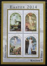 Poštovní známky Tonga 2014 Velikonoce, umìní Mi# Block 77 Kat 22€