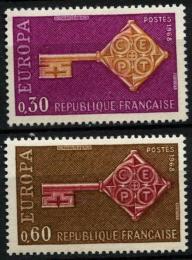Poštovní známky Francie 1968 Evropa CEPT Mi# 1621-22