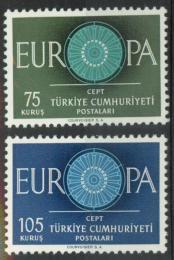 Poštovní známky Turecko 1960 Evropa CEPT Mi# 1774-75