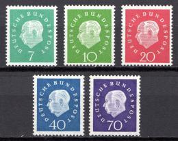 Poštovní známky Nìmecko 1959 Prezident Theodor Heuss Mi# 302-06 Kat 20€