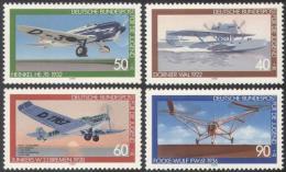 Poštovní známky Nìmecko 1979 Letadla Mi# 1005-08