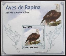 Poštovní známka Svatý Tomáš 2009 Orel bìlohlavý DELUXE neperf. Mi# 4269 B Block
