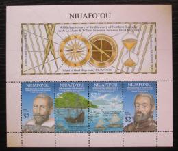 Poštovní známky Tonga Niuafo´ou 2016 Objevení ostrovù Mi# Block 68 Kat 11€