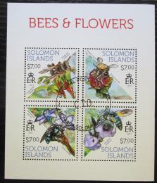 Poštovní známky Šalamounovy ostrovy 2013 Vèely a kvìtiny Mi# 2142-45 Kat 9.50€