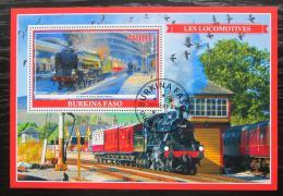 Poštovní známka Burkina Faso 2019 Parní lokomotivy Mi# N/N