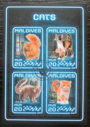 Poštovní známky Maledivy 2018 Koèky Mi# 7583-86 Kat 10€