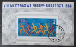 Poštovní známka Polsko 1966 ME v lehké atletice Mi# Block 39