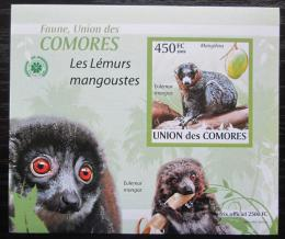 Poštovní známka Komory 2009 Lemur DELUXE neperf. Mi# 2460 B Block