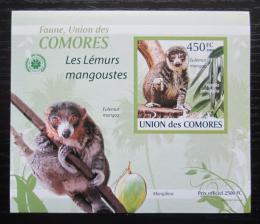 Poštovní známka Komory 2009 Lemur DELUXE neperf. Mi# 2463 B Block