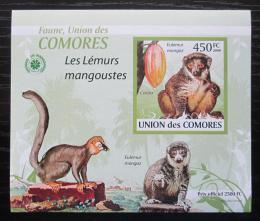 Poštovní známka Komory 2009 Lemur DELUXE neperf. Mi# 2464 B Block