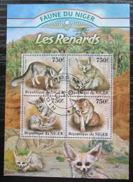 Poštovní známky Niger 2013 Liška pouštní Mi# 2105-08 Kat 12€