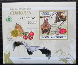 Poštovní známka Komory 2009 Netopýøi DELUXE neperf. Mi# 2458 B Block