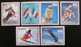 Poštovní známky Paraguay 1990 ZOH Albertville s kupónem Mi# 4471-75 Kat 8€
