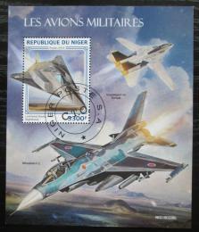 Poštovní známka Niger 2019 Vojenská letadla Mi# N/N