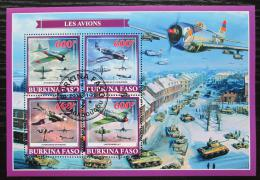 Poštovní známky Burkina Faso 2019 Váleèná letadla Mi# N/N