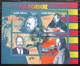 Poštovní známky Guinea-Bissau 2012 Automobily Porsche Mi# 6177-80 Kat 10€