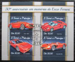 Poštovní známky Svatý Tomáš 2018 Ferrari Mi# 7578-81 Kat 12€