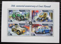 Poštovní známky Maledivy 2014 Automobily Renault Mi# 5218-21 Kat 11€