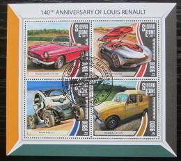 Poštovní známky Sierra Leone 2017 Automobily Renault Mi# 8775-78 Kat 11€