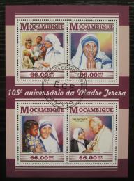 Poštovní známky Mosambik 2015 Matka Tereza Mi# 8104-07 Kat 15€