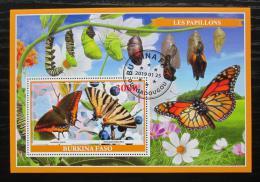 Poštovní známka Burkina Faso 2019 Motýli Mi# N/N