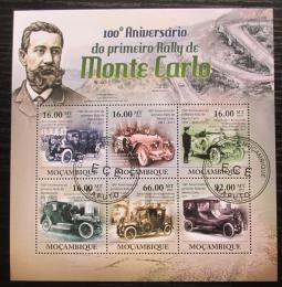Poštovní známky Mosambik 2011 Rallye Monte Carlo, 100. výroèí Mi# 4563-68 Kat 12€