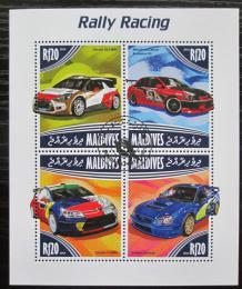 Poštovní známky Maledivy 2014 Závodní automobily Mi# 5249-52 Kat 10€