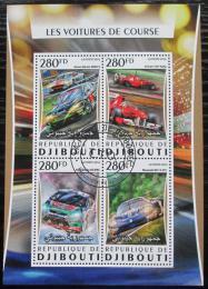 Poštovní známky Džibutsko 2016 Závodní automobily Mi# 1074-77 Kat 12€