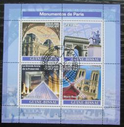 Poštovní známky Guinea-Bissau 2007 Paøížská architektura Mi# 3653-56 Kat 8€