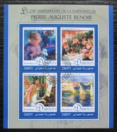 Poštovní známky Džibutsko 2016 Umìní, Pierre-Auguste Renoir Mi# 1164-67 Kat 10€