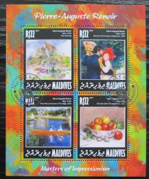 Poštovní známky Maledivy 2014 Umìní, Pierre-Auguste Renoir Mi# 5966-69 Kat 10€