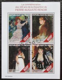 Poštovní známky Niger 2019 Umìní, Pierre-Auguste Renoir Mi# N/N