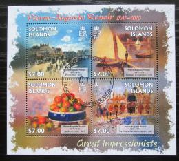 Poštovní známky Šalamounovy ostrovy 2013 Umìní, Renoir Mi# 1721-24 Kat 9.50€
