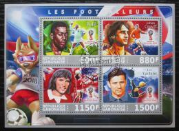 Poštovní známky Gabon 2017 Fotbalisti Mi# N/N