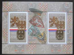 Poštovní známky Èeská republika 2018 Vznik republiky, 25. výroèí Mi# Block 68