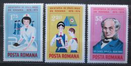 Poštovní známky Rumunsko 1976 Èervený køíž, 100. výroèí Mi# 3336-38