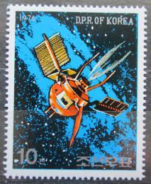 Poštovní známka KLDR 1976 Telekomunikaèní družice Mi# 1494