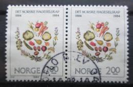 Poštovní známky Norsko 1984 Ovoce a zelenina pár Mi# 906
