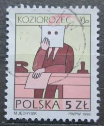 Poštovní známka Polsko 1996 Znamení zvìrokruhu - kozoroh Mi# 3609 x Kat 2.60€