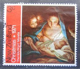 Poštovní známka Nový Zéland 1971 Vánoce, umìní, Carlo Maratti Mi# 565