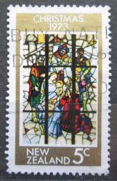 Poštovní známka Nový Zéland 1973 Vánoce, umìní Mi# 614