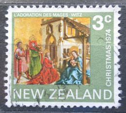 Poštovní známka Nový Zéland 1974 Vánoce, umìní, Conrad Witz Mi# 640