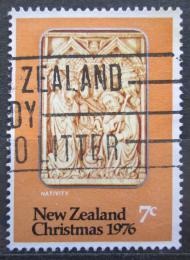 Poštovní známka Nový Zéland 1976 Vánoce, narození Krista Mi# 694
